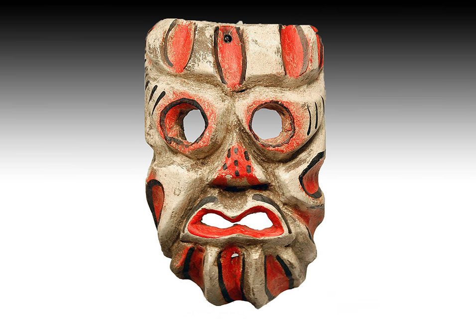 Mexican Day of the Dead carnival mask, early 20th century